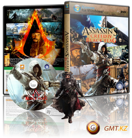Assassin's Creed 4 Black Flag Deluxe Edition v.1.07 + DLC (2013/RUS/RIP by xatab)